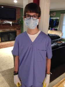"Brendan dressed up as ""The Doctor,"" but he really wished he had found a duck mask so he could have been ""A Quack."""